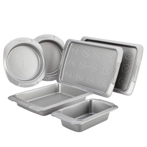 Cake Boss Deluxe Nonstick Bakeware 6-Piece Bakeware Set, Gray