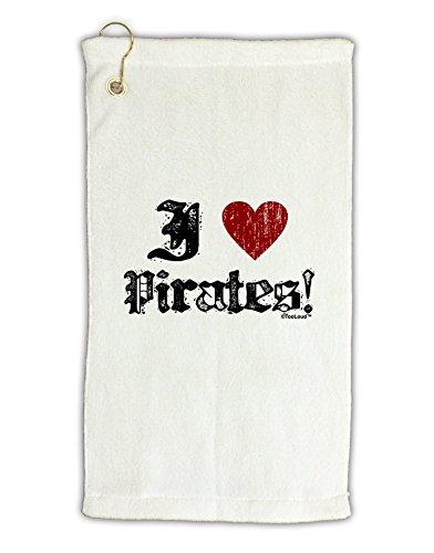 [TooLoud I Heart Pirates Micro Terry Gromet Golf Towel 11