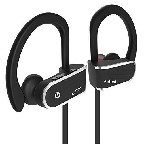 Antimi Bluetooth Kopfhörer, IPX7 In Ear Kopfhörer Wasserfest Sport Headset mit Mikrofon für android iPhone Spritzwasserfest Ohrstöpsel kabellos mit Mikrofon