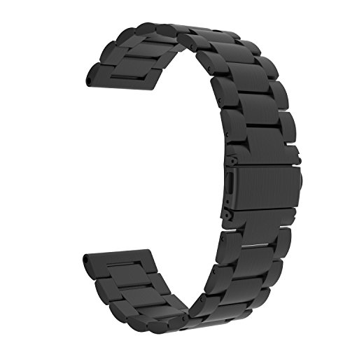 UPC 765857113869, Garmin Vivoactive HR Watch Band, MoKo Universal Stainless Steel Adjustbale Watch Band Strap Bracelet with Adapter Tools ONLY for Garmin Vivoactive HR Sports GPS Smart Watch, Black
