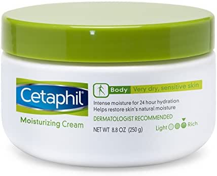 Cetaphil Fragrance Free Moisturizing Cream for Very Dry/Sensitive Skin, 8.8 Ounce