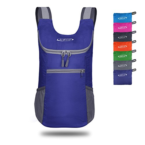 e Shoulder Backpack Lightweight Hiking Daypacks Small Casual Foldable Camping Outdoor Bag Adults Kids 11L(Sapphire) ()