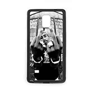 Onshop Custom 2PAC TUPAC SHAKUR Pattern Phone Case Laser Technology for Samsung Galaxy Note 4