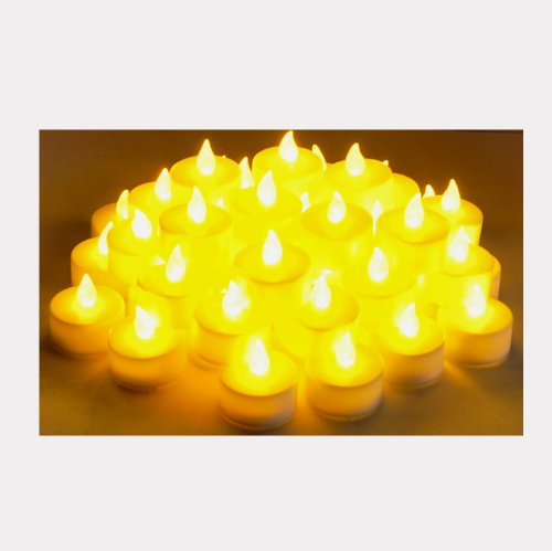 Instapark LCL Series Battery-powered Flameless LED Tealight Candles (4-Dozen Pack)