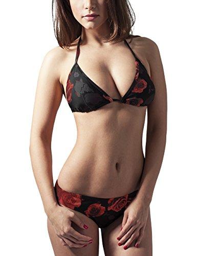 Urban Classics Ladies Triangle, Bikini para Mujer Multicolor (flower red 728)