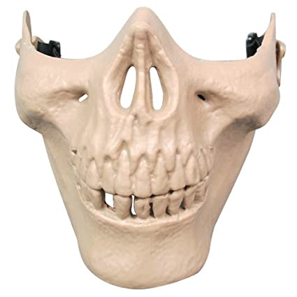 SODIAL(R) Airsoft Mask Skull Skeleton Airsoft Paintball Half Face Protect Airsoft Mask (
