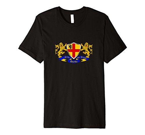 Burke Irish Coat of Arms T-Shirt (Arms Irish Coat Family)
