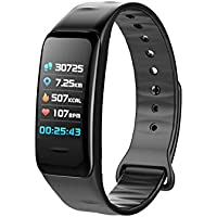 OPTA SB-050 HRXX BAND| HD Color Display Bluetooth Fitness Smartwatch | | All-in-One Activity Tracker | Blood Pressure | Heart Rate | Multi-Sport Mode | Sleep Monitor | smartband compatible with Android / IOS Smart phones for Men Women Teens -Black Bracelet