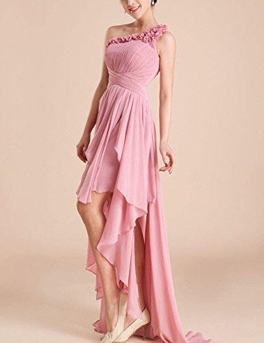 kleider Shoulder Ballkleid 3 Abschlussball Abendkleid Blumen Brautjungfernkleid Kleider One Rosa Lactraum 3D LF4053 Abiballkleid Hochzeit 6pwqRPzx