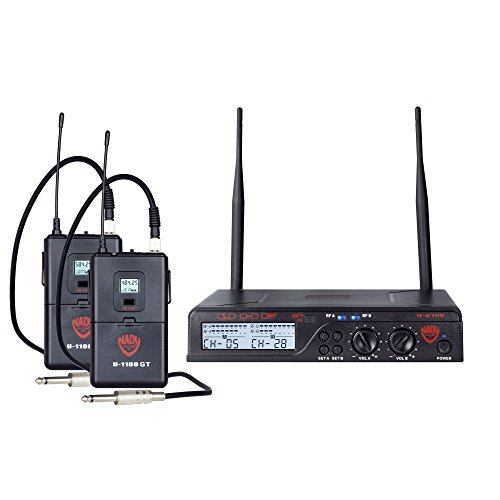 Nady U-2100 Dual GT 200-Channel UHF Wireless Instrument/Guitar System -
