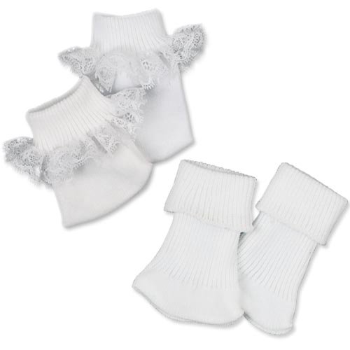 Doll Ankle Sock Set, Fits 18 Inch American Girl Dolls, by Sophia's, two pair Sock set