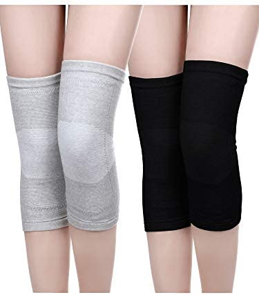 2 Pairs Leg Warmers Winter Thermal Knee Warmers Sleeve Thicken Knee Brace Pads for Women