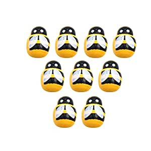 100Pcs/pack Wooden Ladybird Ladybug Sticker Children Kids Painted adhesive Back DIY Craft