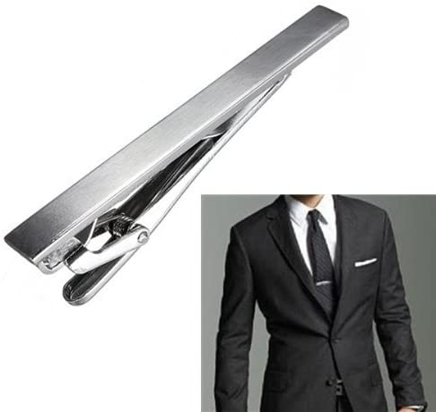 Details about  /Stylish Mens Stainless Steel Wedding Simple Necktie Tie Bar Clasp Clip Clamp Pin