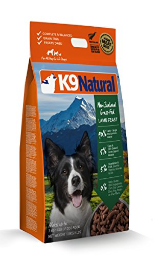 K9 Natural Freeze Dried Dog Food Lamb 4lb