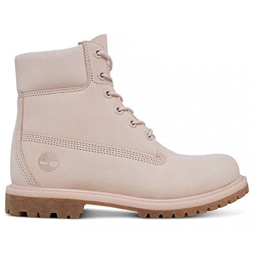 "Image of the Timberland Women's Icon 6"" Premium A1K3Z Lace Up Boot Cameo Rose-Rose-4.5"