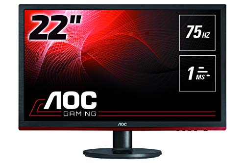 AOC G2260VWQ6 21.5″ Gaming Monitor FHD 1920×1080, 1ms, Freesync 75Hz, Anti-Blue Light, Flickerfree, DisplayPort/HDMI/VGA, Vesa