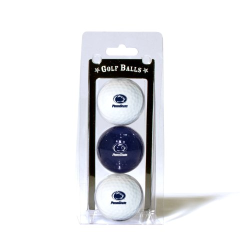 (Team Golf NCAA Penn State Nittany Lions Regulation Size Golf Balls, 3 Pack, Full Color Durable Team Imprint)