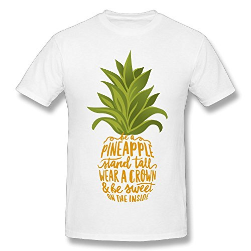Hailin Tattoo Mens Tshirt Be A Pineapple Tropical Fruit Original Plus Size Tshirt Fashion Couple (Plus Tropical Fruit)