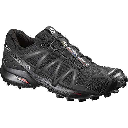 Salomon Women's Speedcross 4 Trail Running Shoes, Black/Black/BLACK METALLIC, 7.5 (The Best Trail Running Shoes)