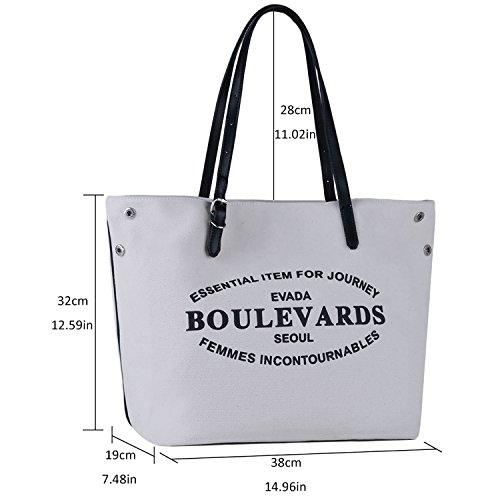 Borse Donna,COOFIT Borse Tracolla Tela Borse Shoppping Bag Tote Borse a Spalla Grande Capacità