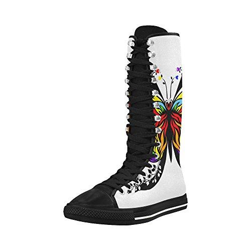 D-story Fashion Stringate Scarpe Da Ginnastica Alte Di Tela Punk Ballate Lunghe Per Le Donne Multicoloured8