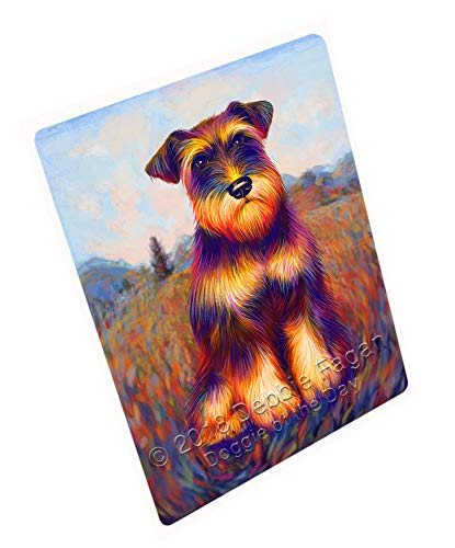 Doggie of the Day Mystic Blaze Schnauzer Dog Blanket BLNKT99633 (54x38 Tapestry Throw)