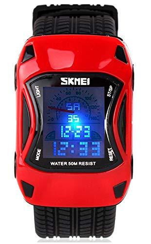 Kids Digital Sport Watch Outdoor Waterproof Watch LED Alarm Stopwatch Child Wristwatch,Toddler Child Watch for Age 3-10Wrist Boys, Girls (Mcqueen Button Lightning Cars)