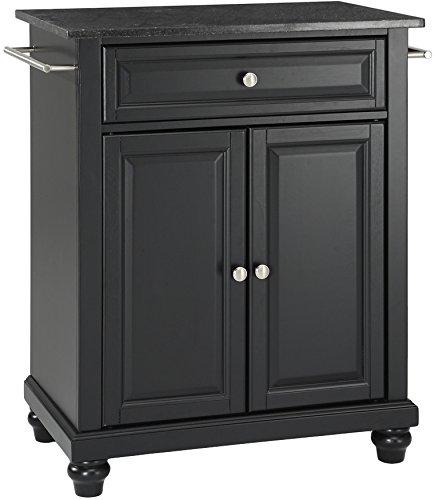 Crosley Furniture Cambridge Cuisine Kitchen Island with Solid Black Granite Top - Black