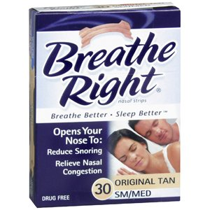 PACK OF 3 EACH BREATHE RIGHT TAN SM/MD 30EA PT#75714500122