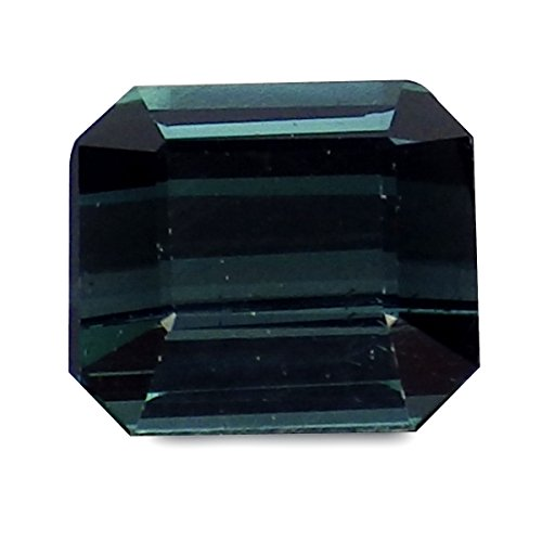 1.44 Ct. Natural Emerald Cut Blue Tourmaline Loose ()