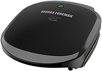 George Foreman 2 Serving Classic Plate Electric Grill and Panini Press