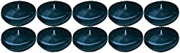Biedermann & Sons Small Round Floating Candles, Dark Blue, 10-Count