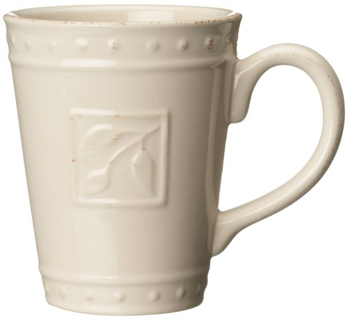 - Signature Housewares Sorrento Collection 14-Ounce Mug, Ivory Antiqued Finish