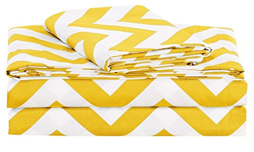 Chezmoi Collection 4 piece Patterns Yellow product image