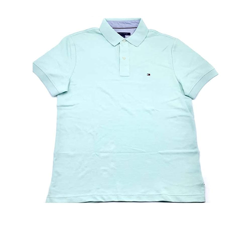 Tommy Hilfiger Mens Custom Fit Solid Color Polo Shirt