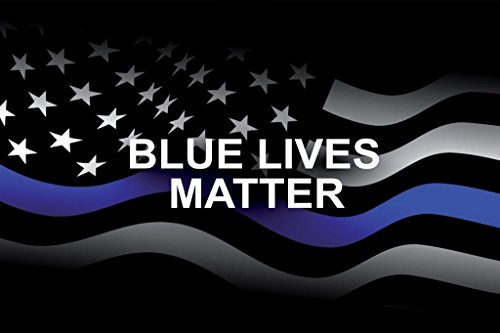 Thin Blue Line Flag Flying Memorial Poster 36x24 inch