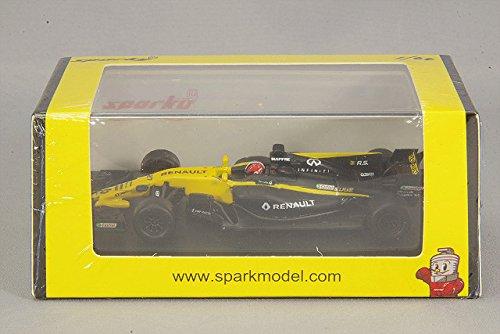 SPARK Renault-RS 17 F1 Team-GP Bahrain 2017 Voiture Miniature de Collection, Y054, Noir/Jaune