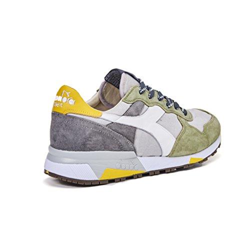 sneakers uomo diadora heritage trident 90c sw camoscio grigio verde