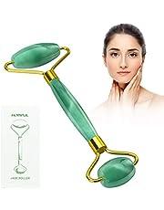Jade rullo per viso massaggiatore, anti-invecchiamento del viso naturale giada pietra a rullo per massaggi