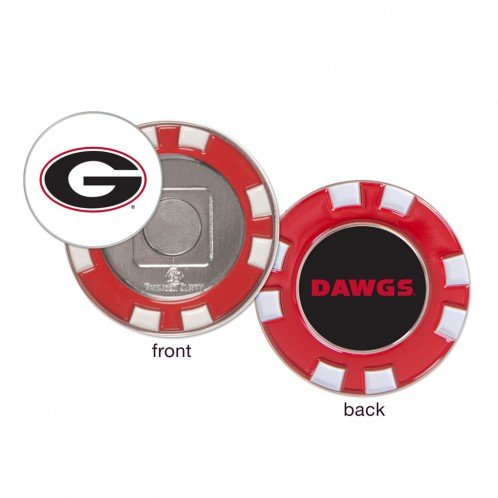 Georgia Bulldogs DAWGS Ball Marker Challenge Coin Poker Chip Metal (Chip Georgia)