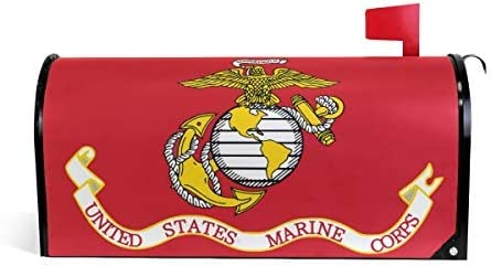 United States Marine Corps Anchor Eagle American Mailbox Covers Seasonal Color 18x21 Magnetic Mailbox Wraps