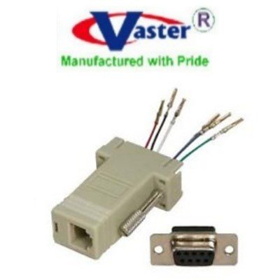 SuperEcable - 00024-9F - DB9 Female to RJ11/12 (6P4C / 6P6C) Modular - 5 PCS / PACK VasterCable