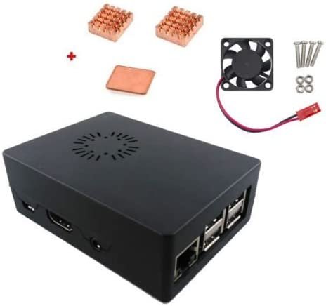 LaDicha Caja Negra De Caja De Abs con Ventilador + Kit De Disipador De Calor para Raspberry Pi 3 Modelo B: Amazon.es: Hogar