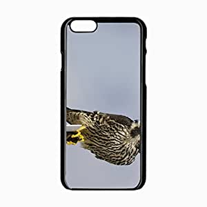 iPhone 6 Black Hardshell Case 4.7inch peregrine falcon view profile gray background Desin Images Protector Back Cover