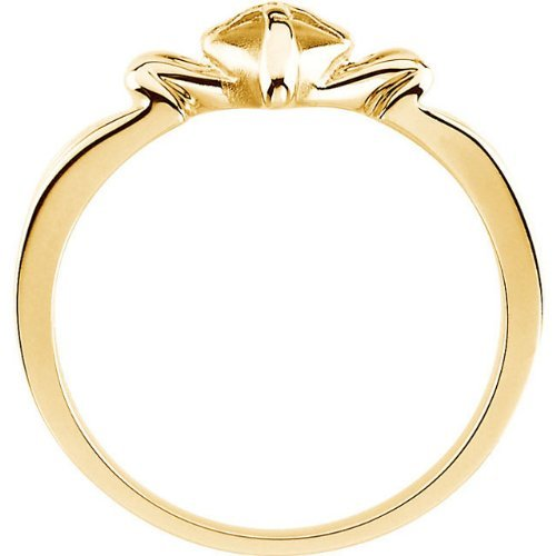 Cross Heart 10k Yellow Gold Ring, Size 6 by The Men's Jewelry Store (for HER) (Image #3)