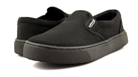 Laforst Womens Dart Non Slip Sunbrella Slip Resistant Server Waitress Nurse Slip On Flat Black 7 by Laforst (Image #1)