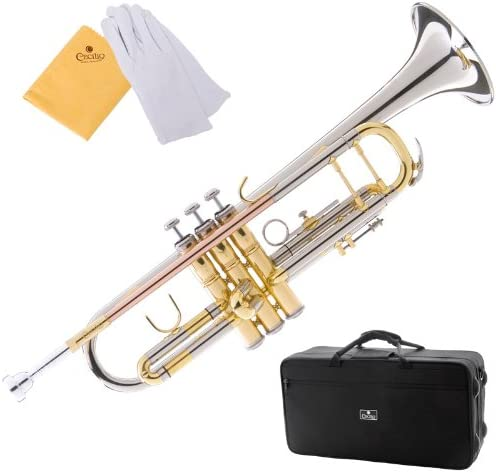 Cecilio 3Series Tt-380Cn Nickel Plated Intermediate Double-Braced Bb Trumpet