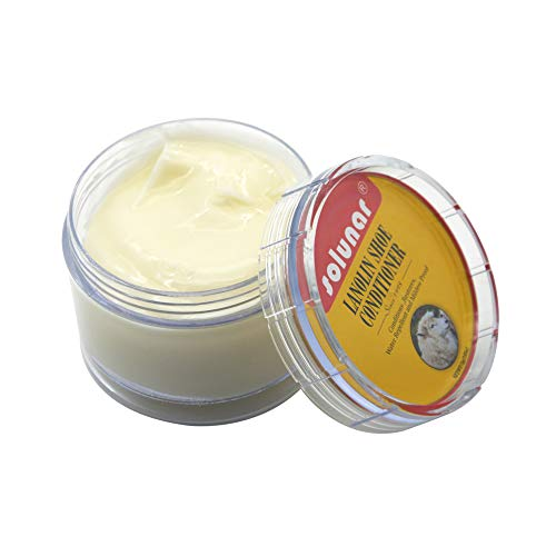 Solunar Lanolin Shoe Conditioner,Leather Cream,75g for leather shoes,jackets,boots,etc