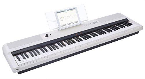 The ONE Smart Keyboard Pro, 88-Key Digital Piano Keyboard, Portable Digital Piano, Weighted Action Keys, White